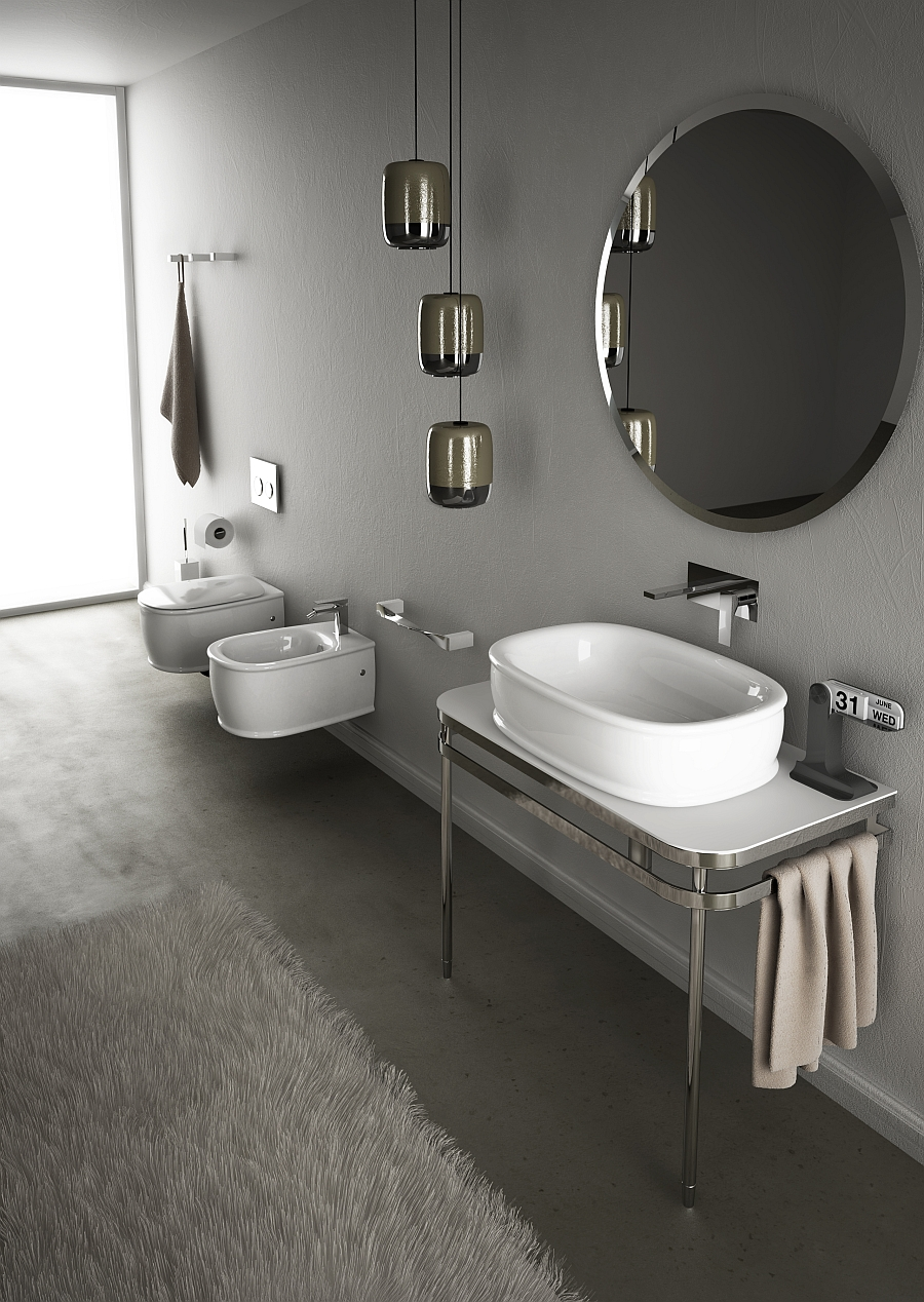 Art Deco Style Toilet Wall-hung Sanitary Solutions For The Small, Space
