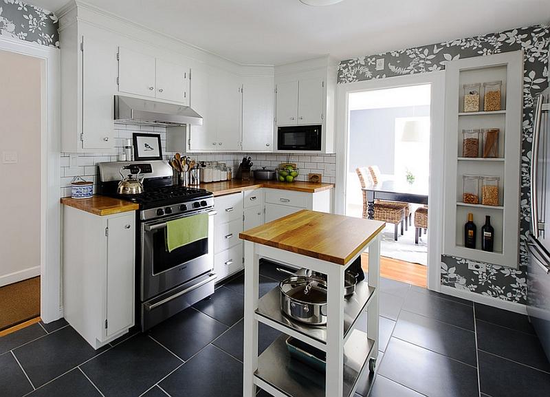 kitchen island casters mobile wonders roll form rental friendly kitchen update wallpaper cabinets
