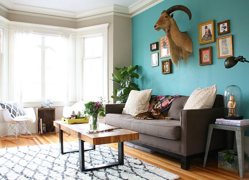 Hot Color Trends Coral, Teal, Eggplant and More - teal living room ideas