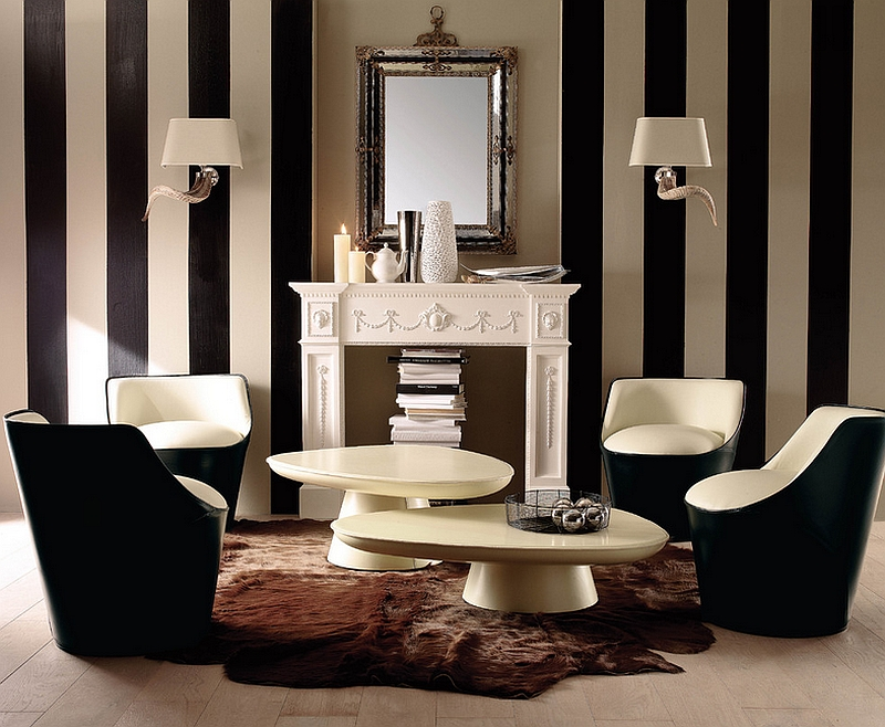 Black And White Living Rooms Design Ideas - black and red living room ideas