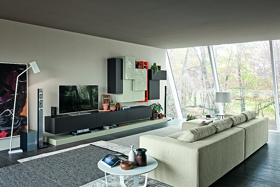 15 Versatile Modular Living Room Units, Trendy Contemporary Designs - wall units for living rooms