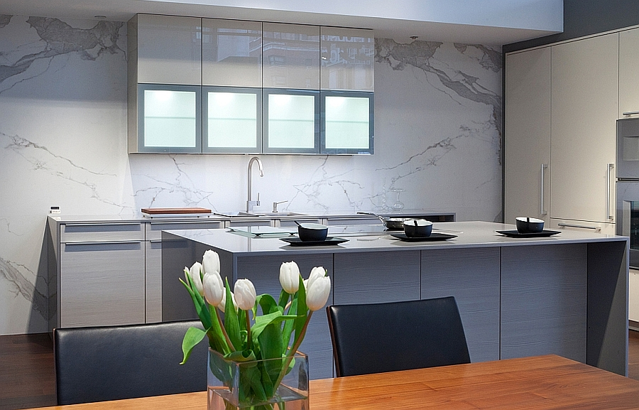 Stylish Kitchen Islands Resilient Porcelain Slabs For Kitchen Countertops, Islands