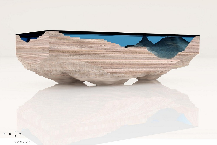 Couchtisch 3d Stunning Layered Glass And Wood Limited Edition Table