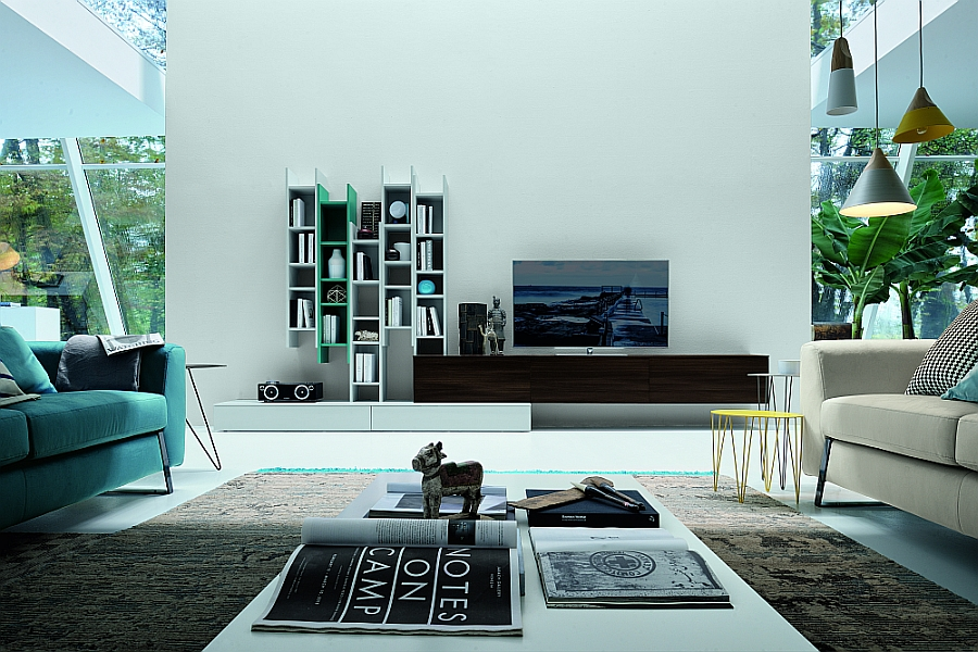 15 Versatile Modular Living Room Units, Trendy Contemporary Designs - designer wall unit
