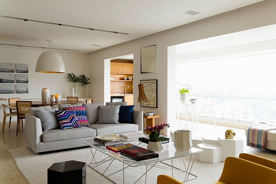 Posh apartment in brazil captivates with smart accents of