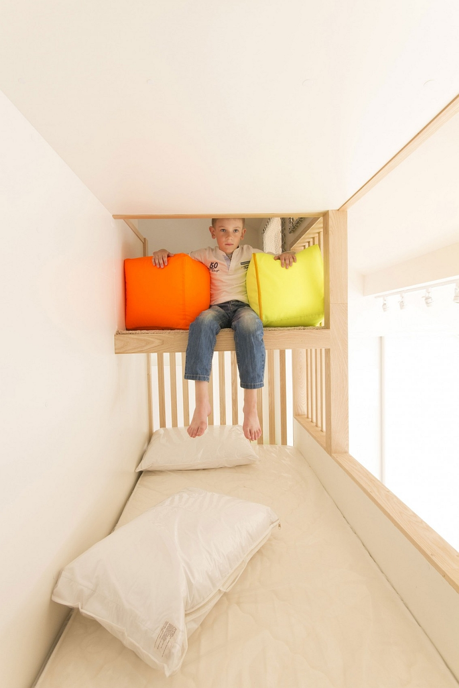 Kids Bedroom Space Saving Ideas Small Loft Apartment Turned Into A Trendy Home, Space