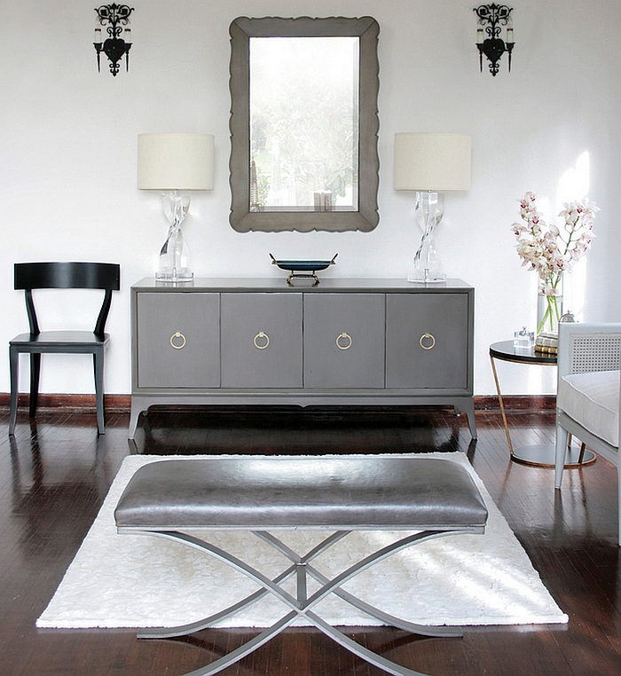 Black And White Living Rooms Design Ideas - silver living room furniture