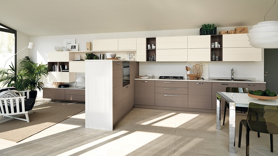 Modular living area kitchen compositions versatile trendy