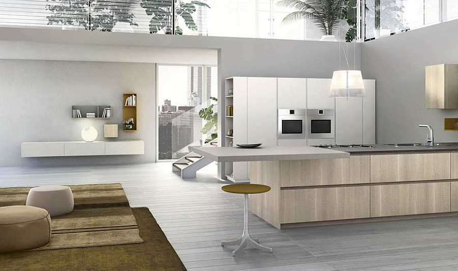 Modern Stools For Kitchen Island Modular Italian Kitchen With Streamlined Design And