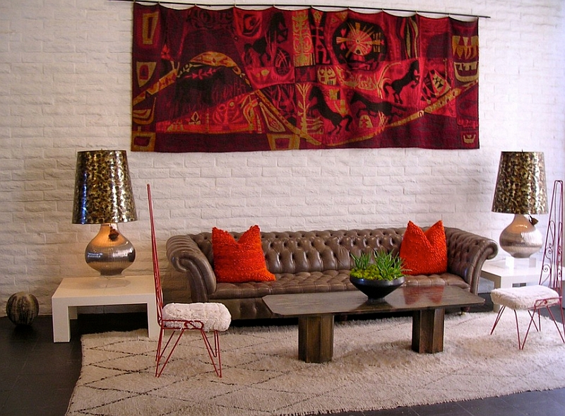 Red And Black Living Room Awesome Red Wall Living Room Decorating - red and brown living room