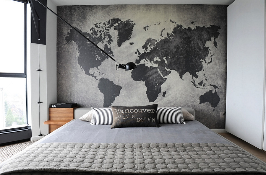 Industrial Bedroom Ideas, Photos Trendy Inspirations - wall designs for bedroom
