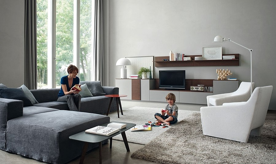 6 Posh Contemporary Armchairs \ Sofas To Transform Your Living Room - living room armchair