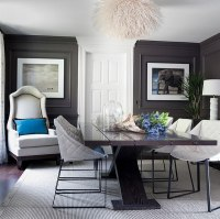 Twin chairs in the corner add style to the space - Decoist