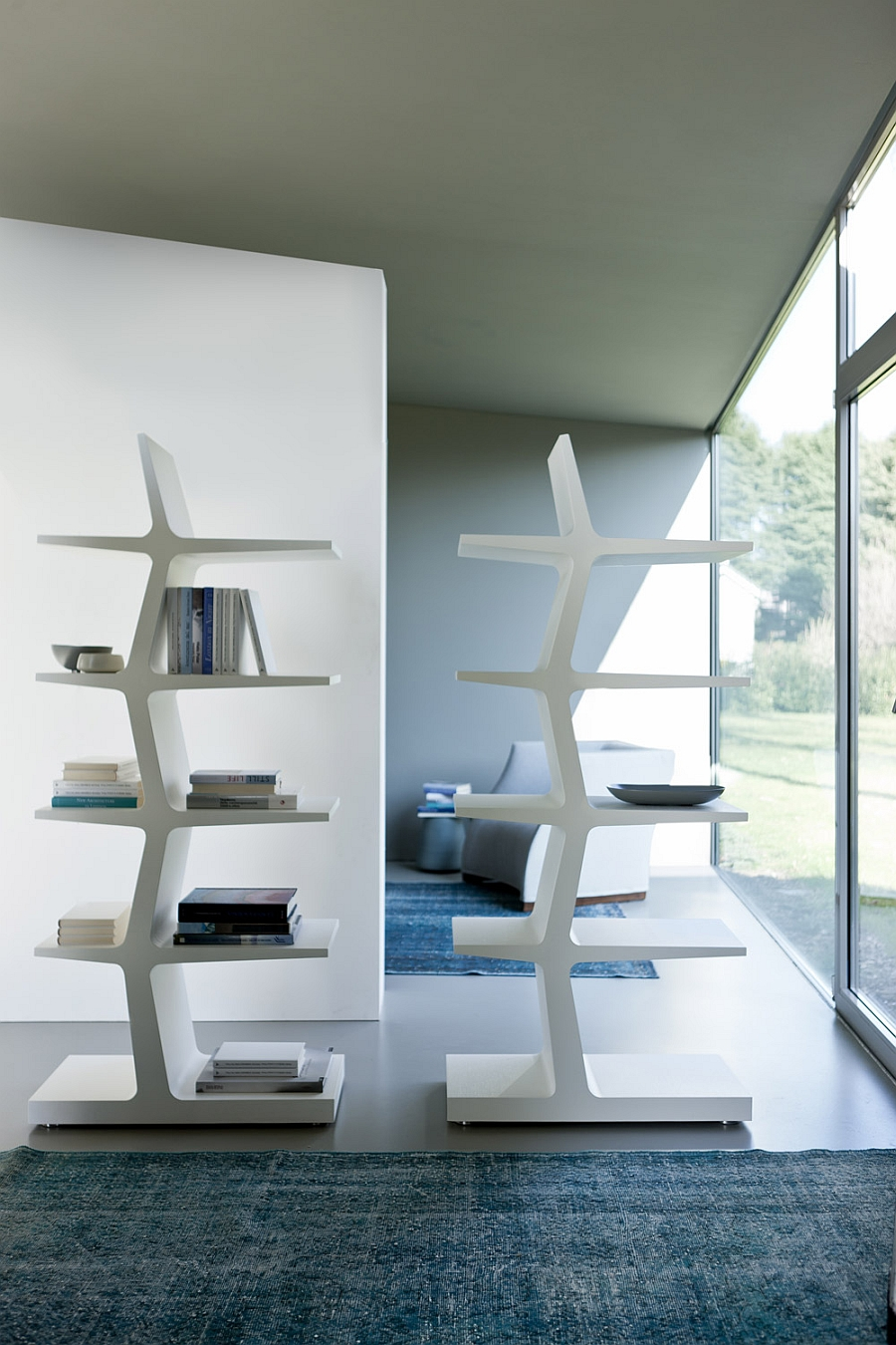 Living Room Table Wood 5 Trendy Modern Bookshelves That Unleash Warmth Of Wood!