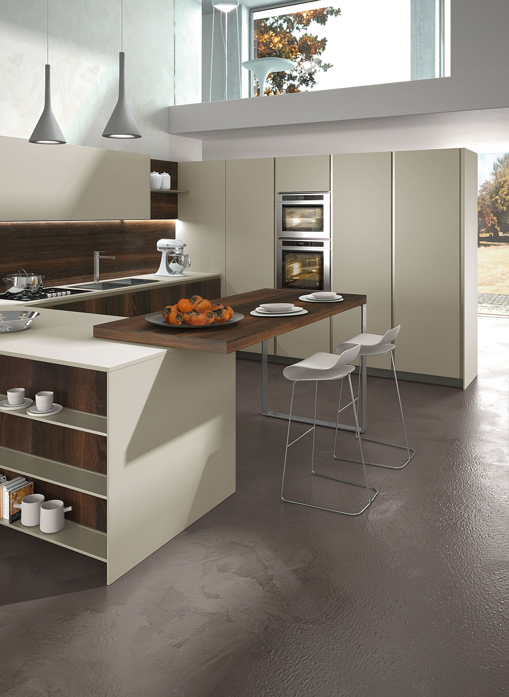 Living Room Cabinets Posh Kitchen Compositions Fuse Modularity With Minimal