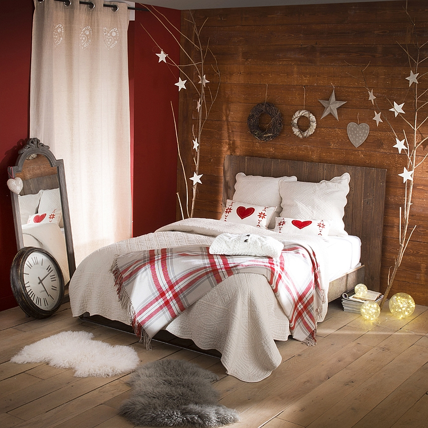 10 Christmas Bedroom Decorating Ideas, Inspirations - christmas room decorations