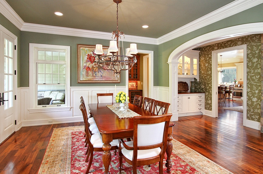 Philadelphia In The Fall Wallpaper 12 Red And Green Dining Rooms For The Holidays And Beyond
