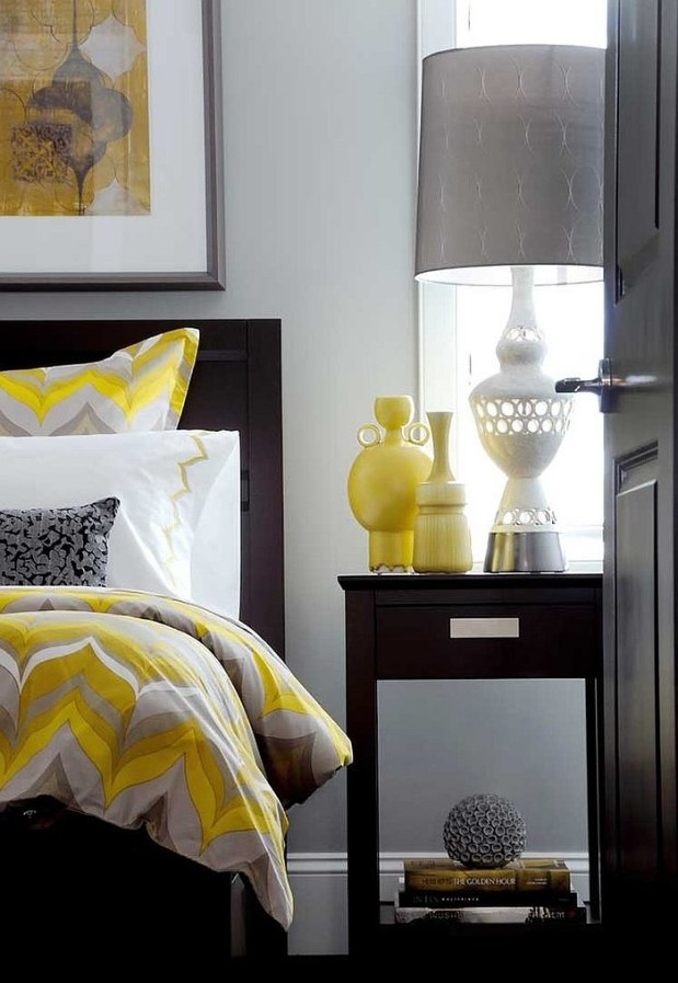 cheerful sophistication 25 elegant gray and yellow bedroom