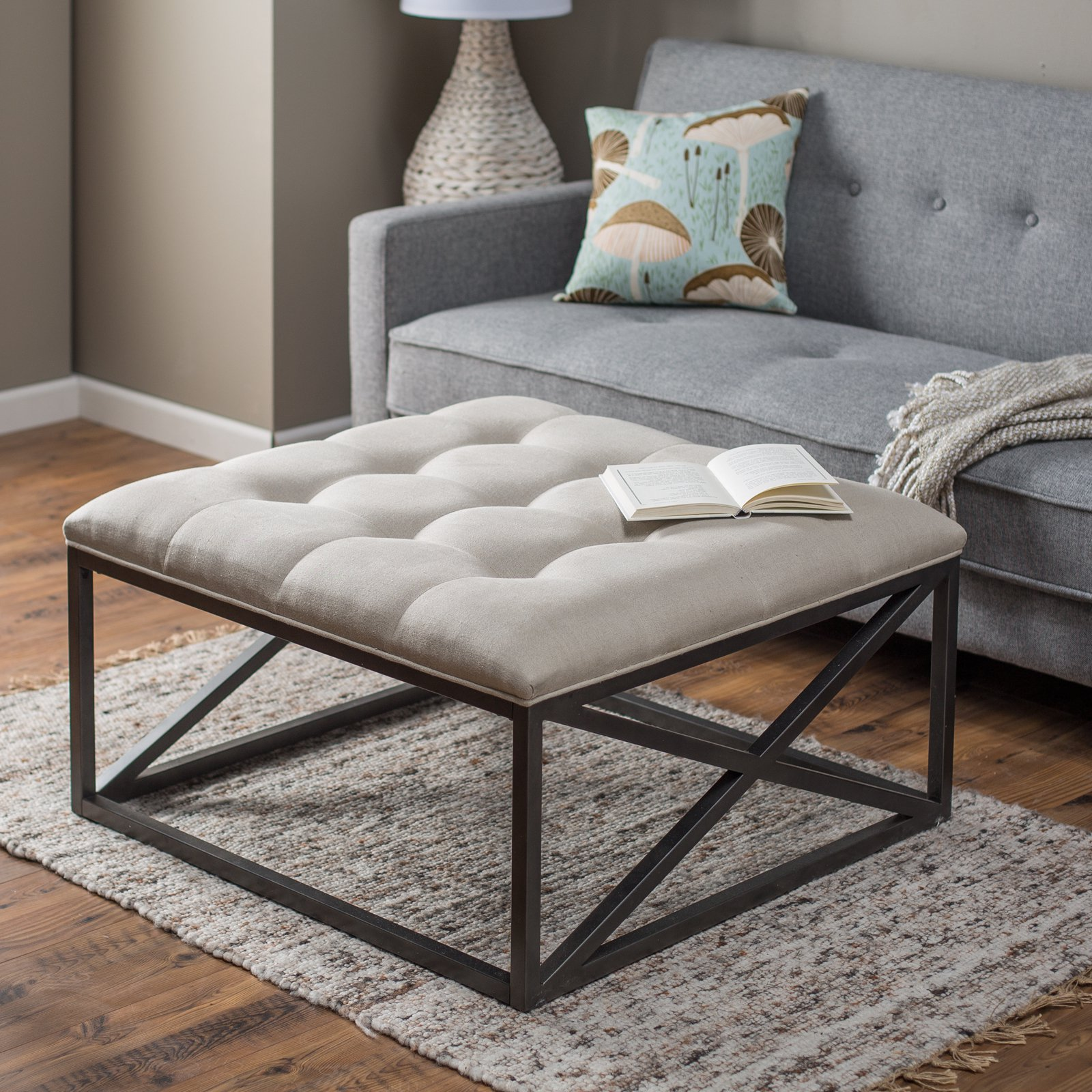 Ottoman Coffee Table 8 Plush Tufted Ottomans To Add Comfort And Functionality