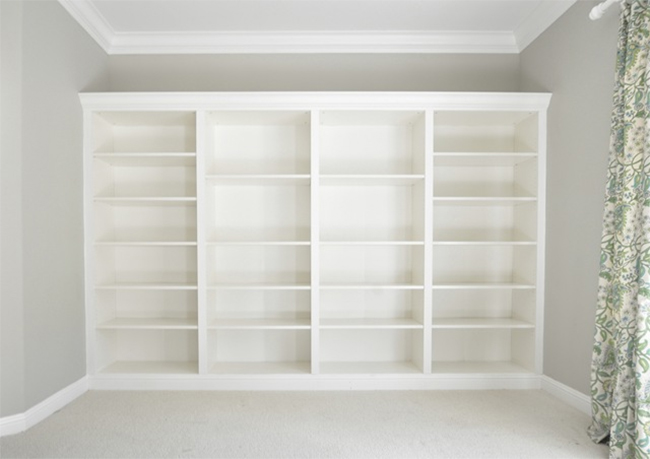 Built In Bookcases Made Of Ikea Billy Decoist