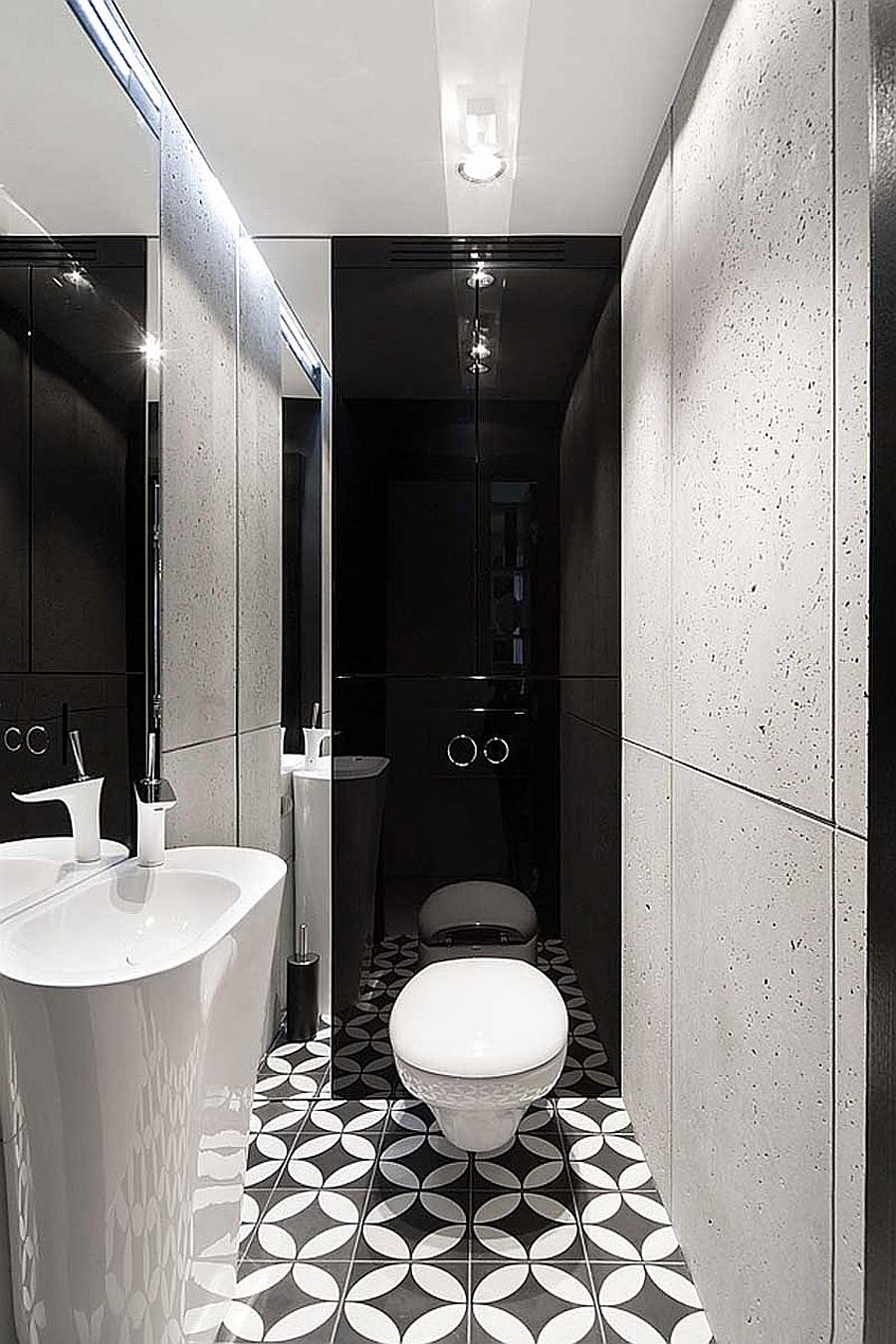 3d Geometric Wallpaper For Walls Posh Monochromatic Apartment By Widawscy Studio Architektury