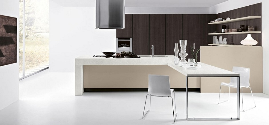 Kitchen Island Extendable Table 11 Inspired Contemporary Kitchens With Compositional Freedom