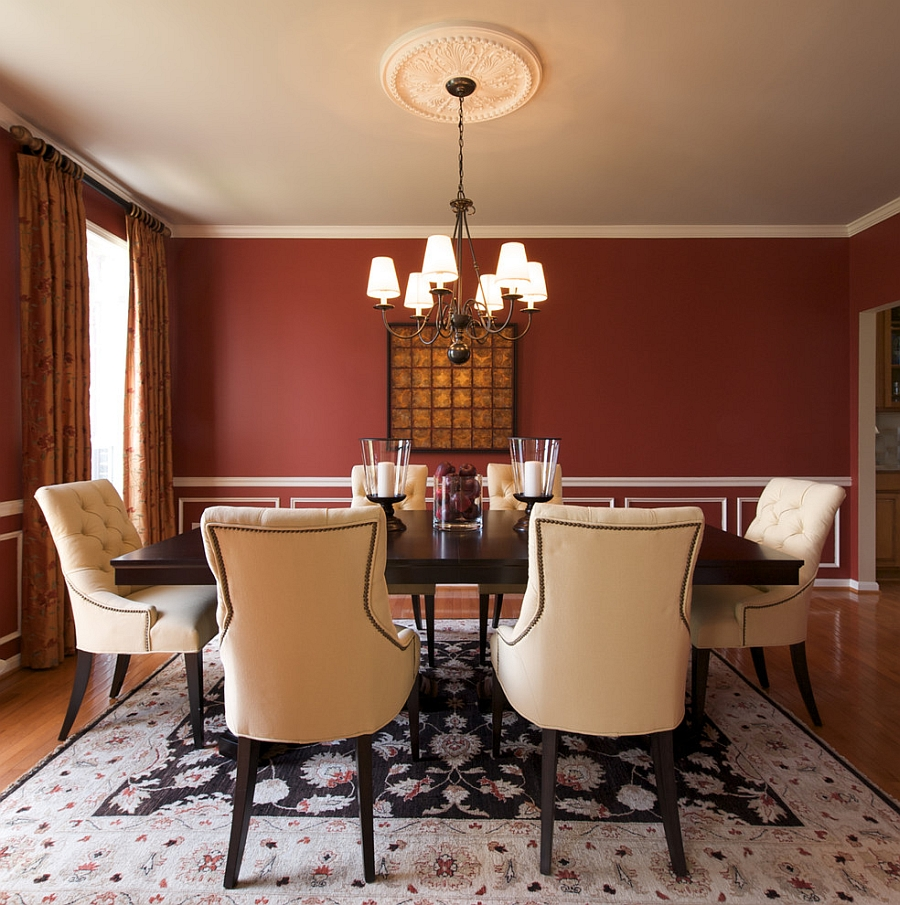 Dining room red paint ideas -  Paint Ideas How To Create A Sensational Dining Room With Red Panache Download