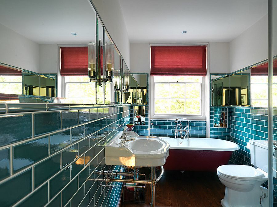 Metrotegels Badkamer 15 Eclectic Bathrooms With A Splash Of Delightful Blue