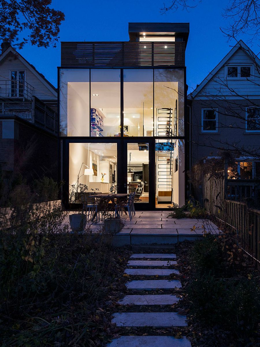 /home Early 1900s Toronto Home With A Glassy Modern Renovation