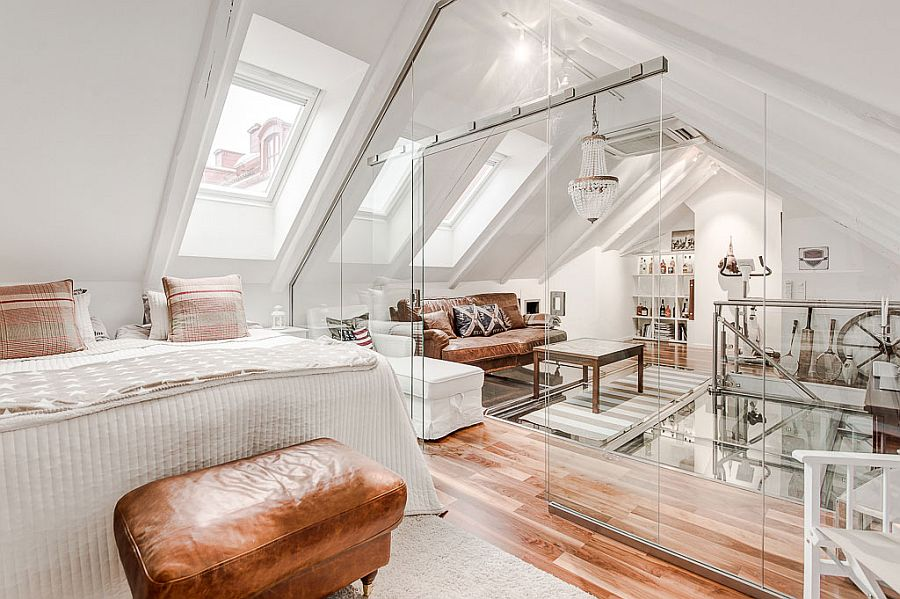 Retro Einrichtung Attic Apartment With Awesome Glass Flooring In Stockholm