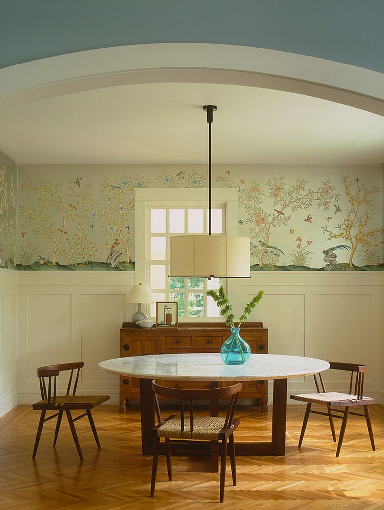 Chic Contemporary Modern Wallpaper 27 Splendid Wallpaper Decorating Ideas For The Dining Room