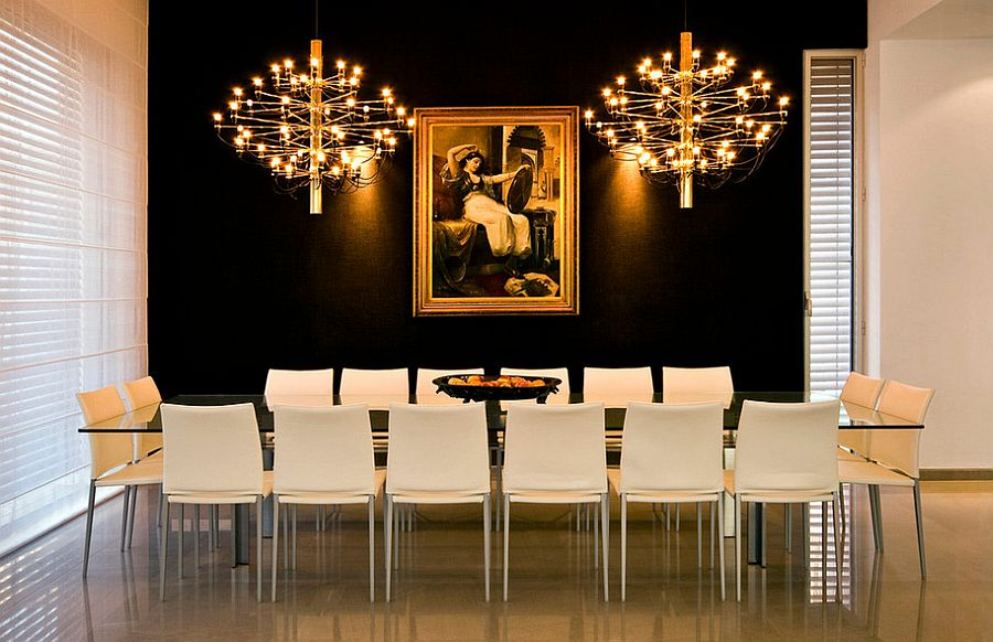 15 Refined Decorating Ideas in Glittering Black and Gold - black white and gold living room ideas