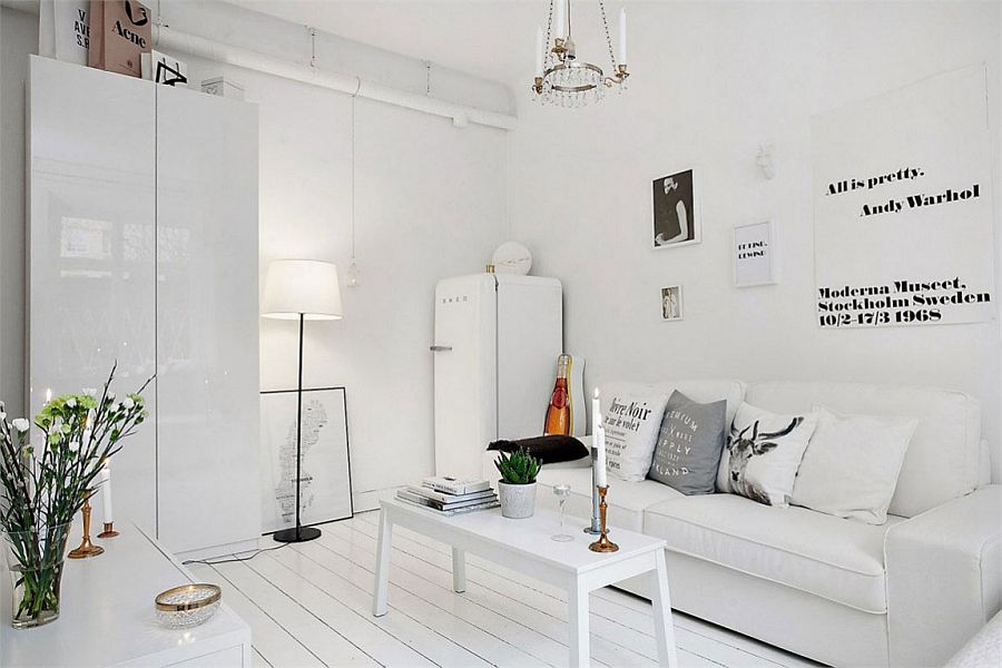 Decorar Piso Pequeño Ikea 20 Sqm Apartment In Stockholm With Scandinavian Design