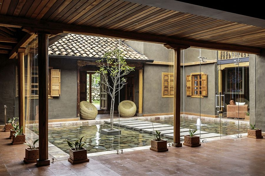 stunning courtyard natural materials shape loma house ecuador photo credits eduardo calderon alan abramowitz tom hille