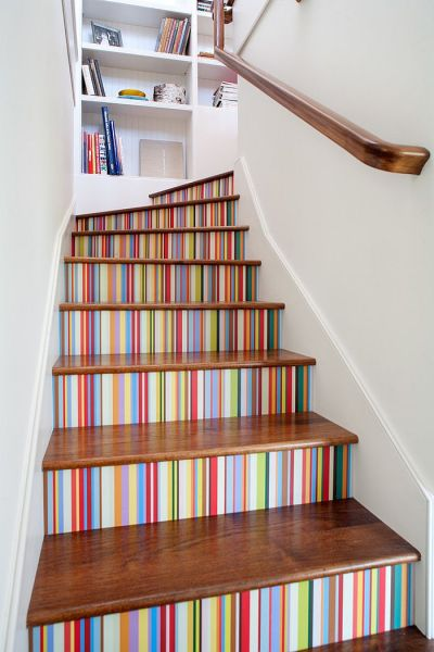 16 Fabulous Ideas That Bring Wallpaper to the Stairway