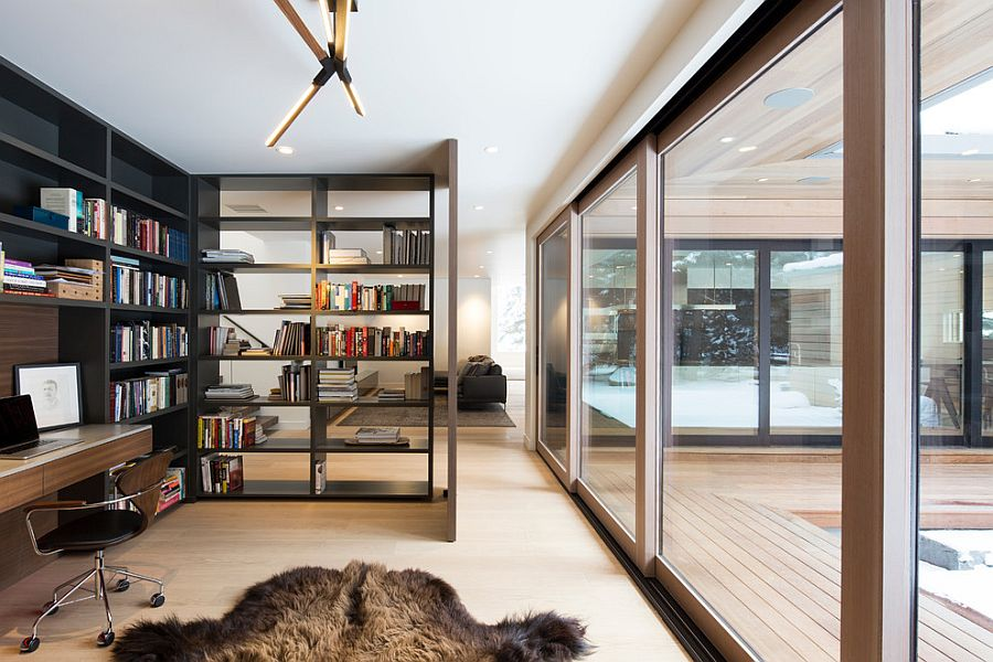 50 Splendid Scandinavian Home Office and Workspace Designs - living room office ideas