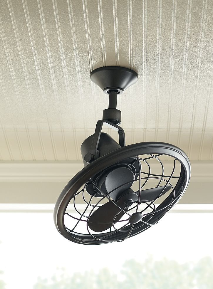 Outdoor oscillating ceiling fan