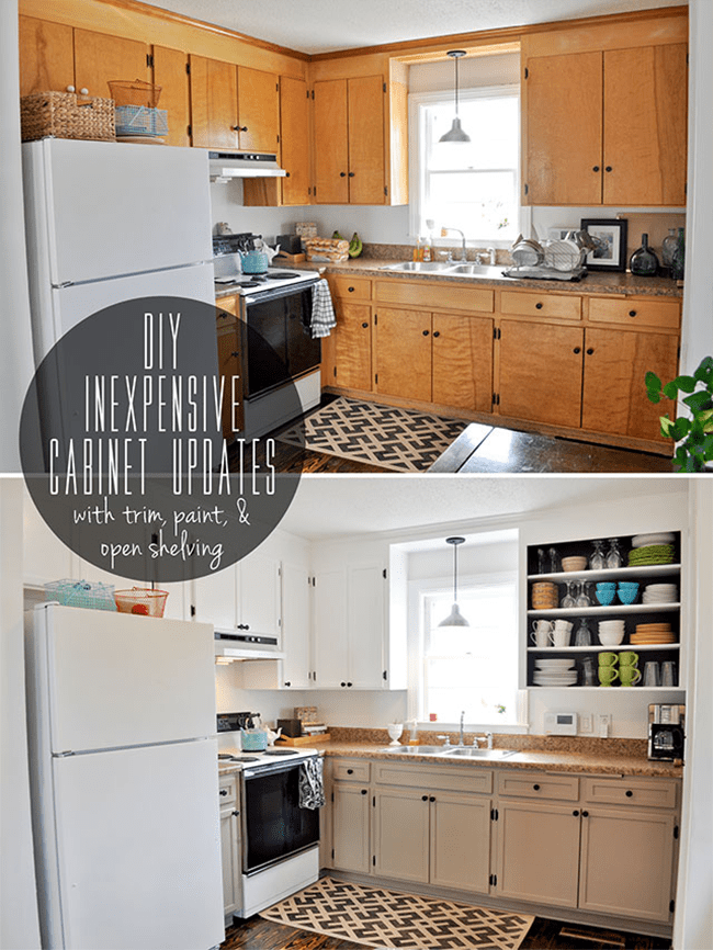 Cost Of Making Kitchen Cabinets 8 Low-cost Diy Ways To Give Your Kitchen Cabinets A Makeover