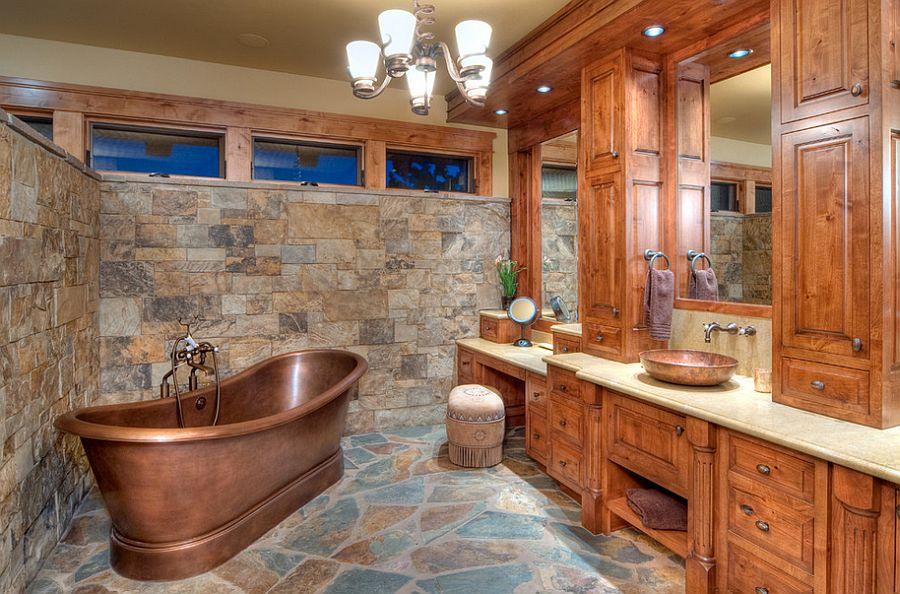 rustic bathroom images