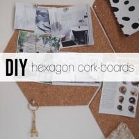 DIY: A Quick and Easy Hexagon Cork-Board