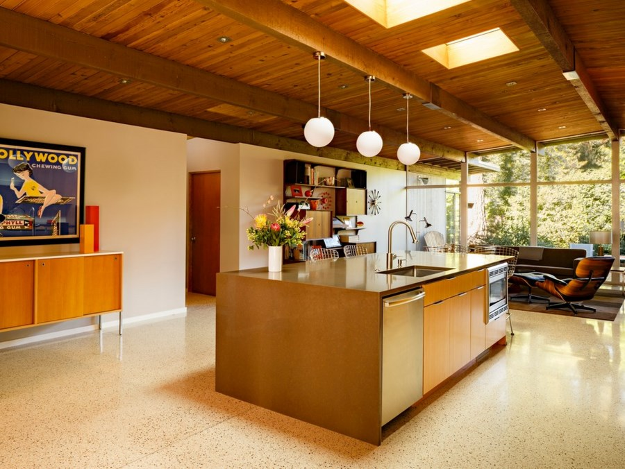 Mid Century Kitchen Island The Sleek Beauty Of Modern Terrazzo Floors