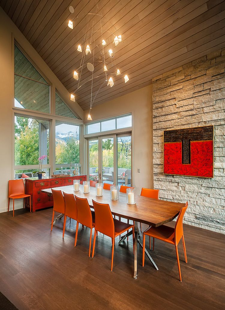 25 Trendy Dining Rooms With Spunky Orange - Dining Room Decoration Modern