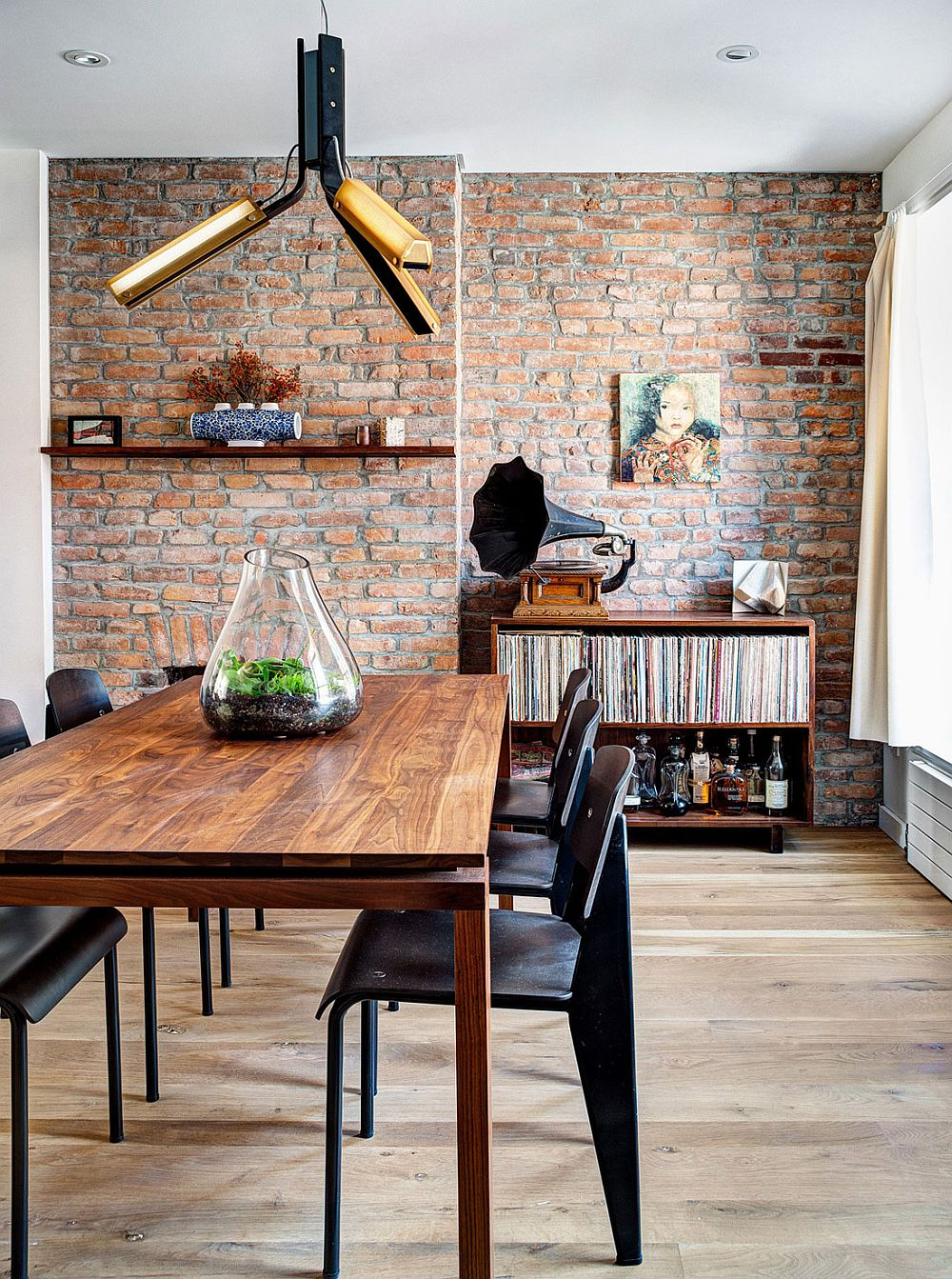 Kitchen Island Brick Renovated 1890s Brooklyn Home With Brick Walls By Gradient