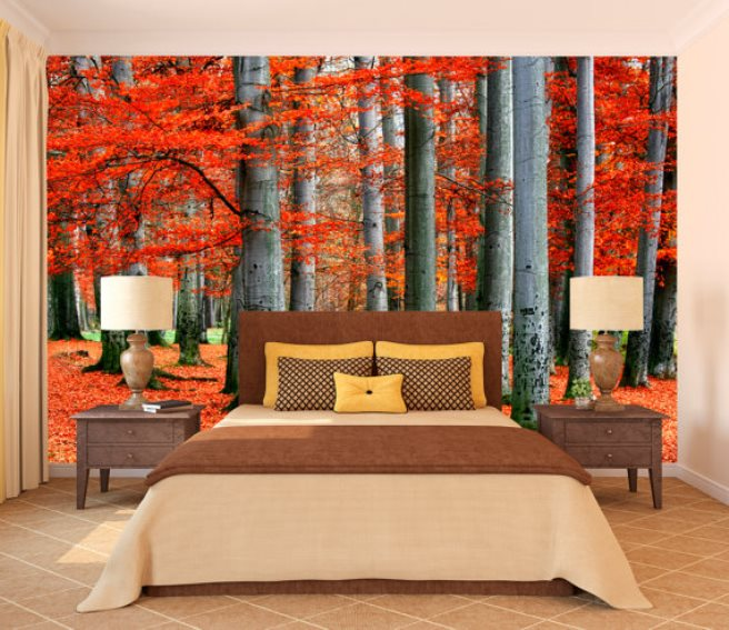 Fall Themed Wallpaper 15 Impressive Wall Mural Ideas That Bring The Outdoors In