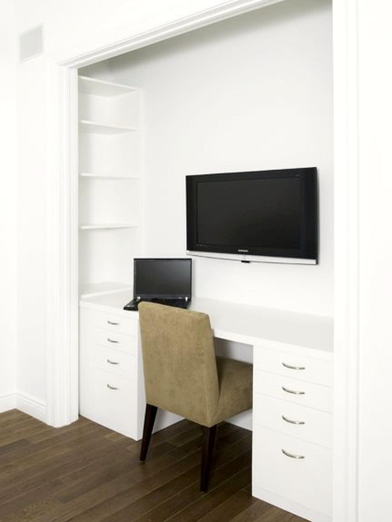 Fold Out Desk Ikea 15 Closets Turned Into Space-saving Office Nooks