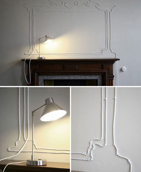 Turn Your Unsightly Wire Cables and Cords into Wall Art