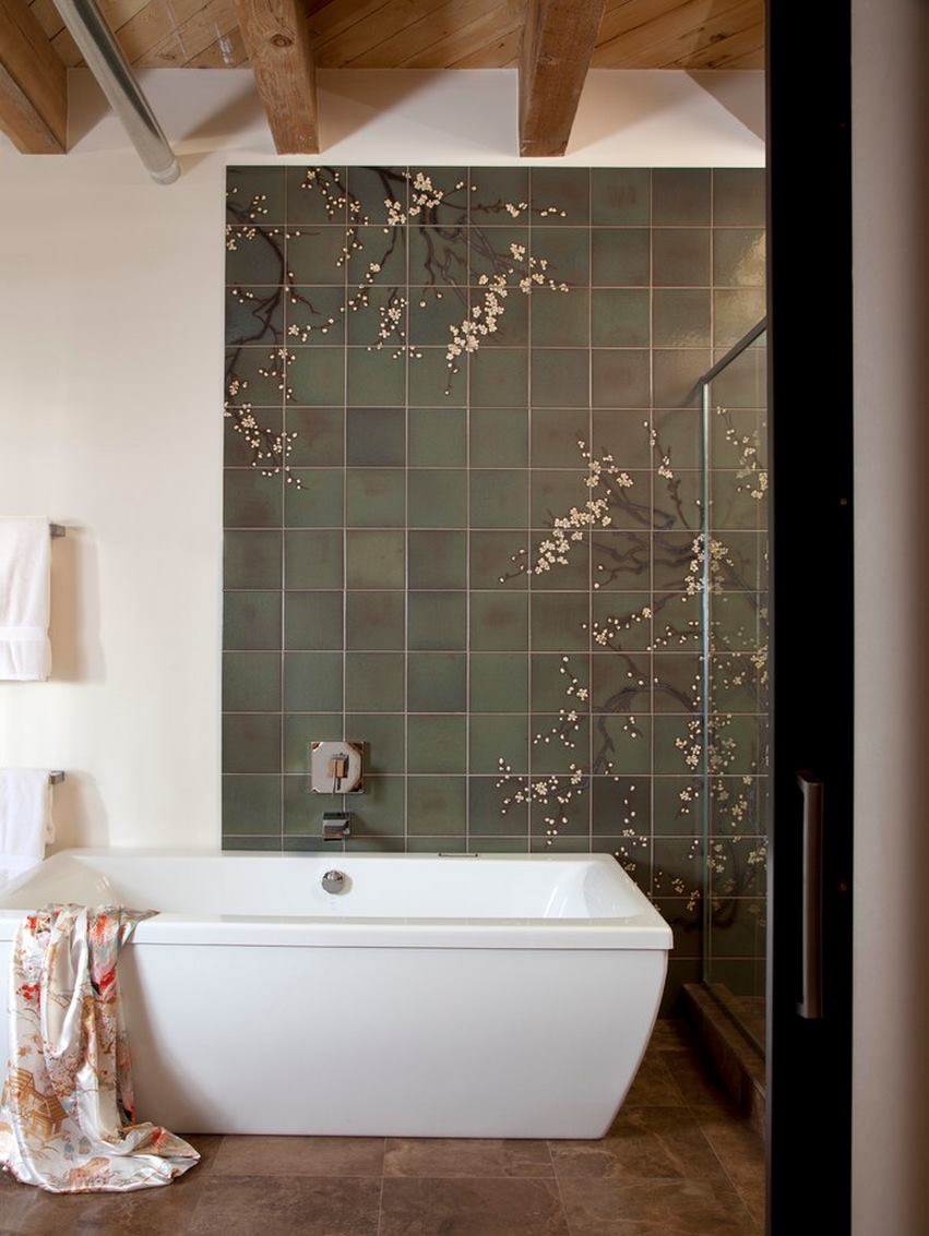 Badkamer Modern Design The Beauty Of Cherry Blossom Wallpaper