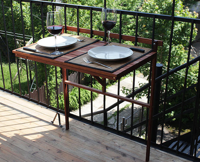 Ikea Balkon Klapptisch Creative Outdoor Accessories To Hang From Your Balcony Railing