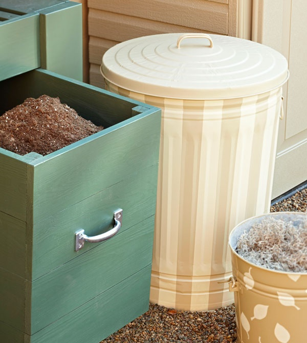 8 Ways to Hide or Dress Up an Ugly Kitchen Trash Can - kitchen trash can ideas