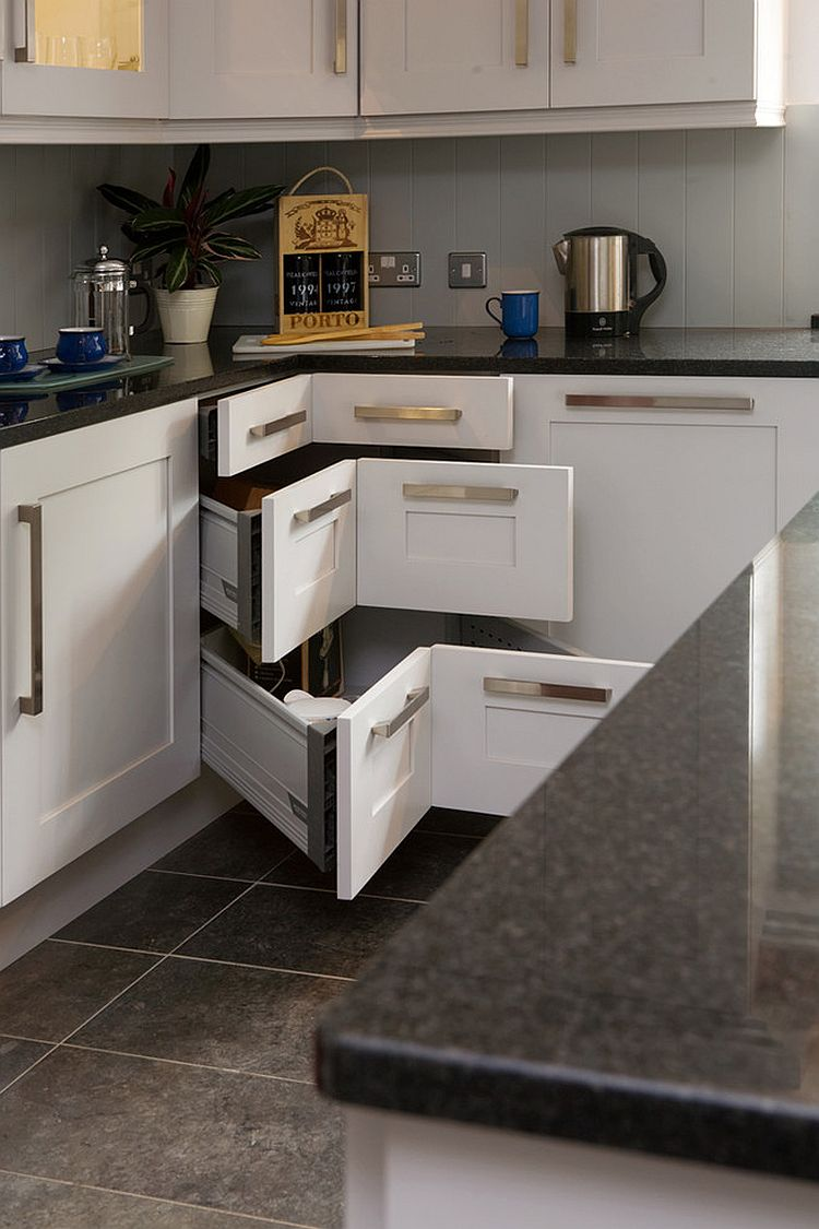 Kitchen Hierarchy 30 Corner Drawers And Storage Solutions For The Modern Kitchen